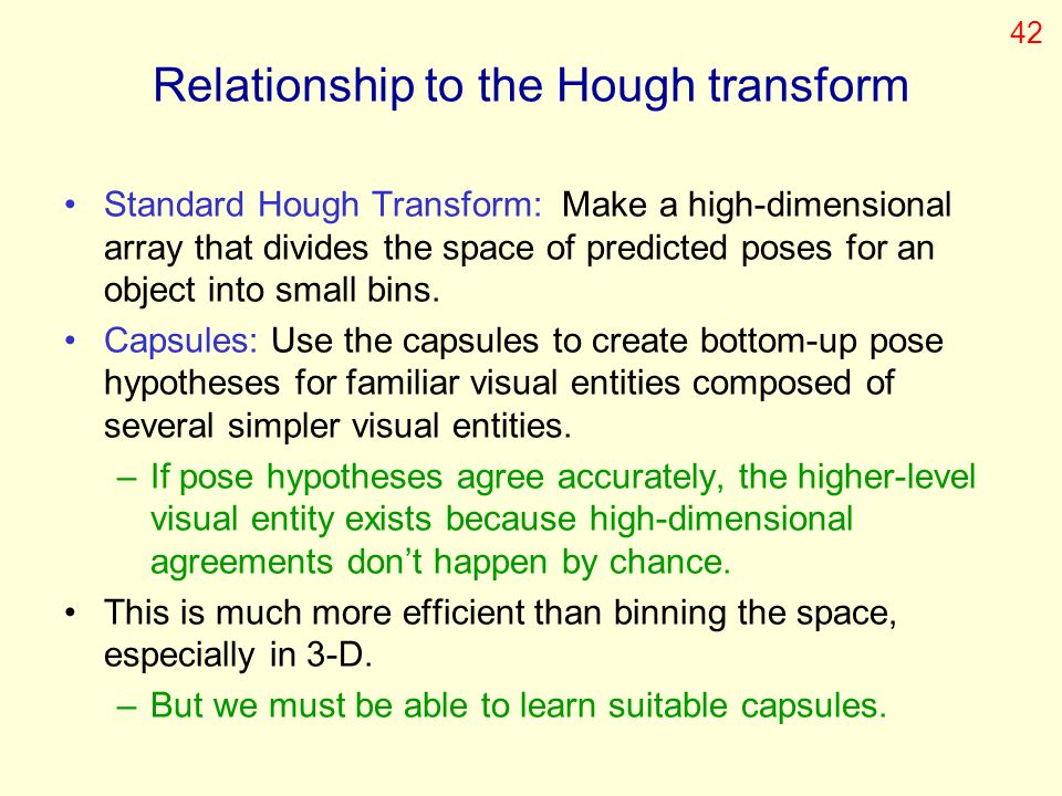 Relationship to the Hough transform