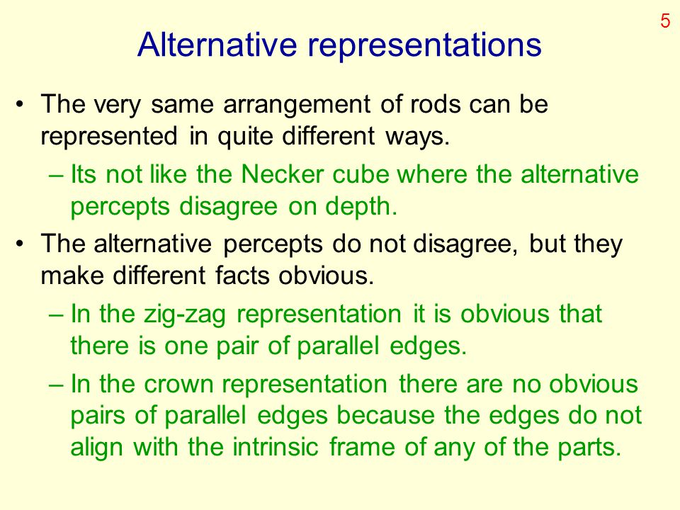 Alternative representations