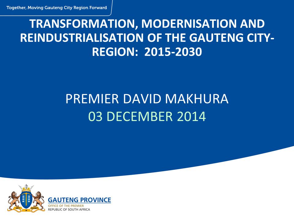 PREMIER DAVID MAKHURA 03 DECEMBER 2014