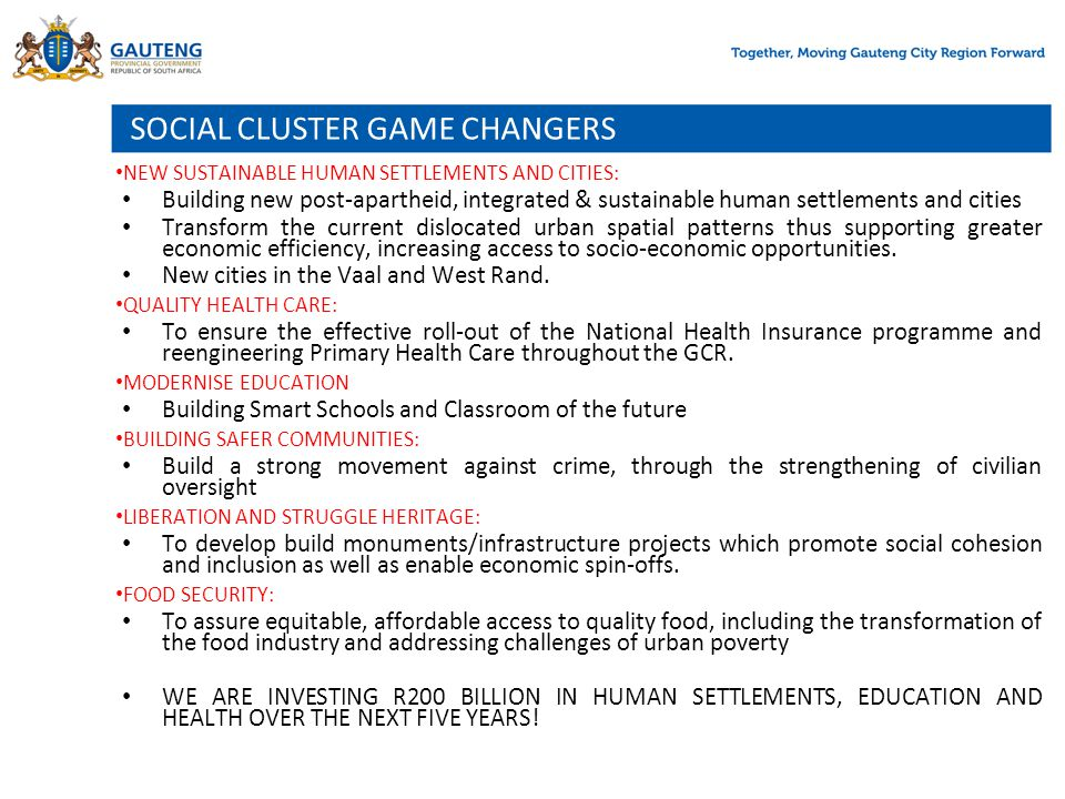 SOCIAL CLUSTER GAME CHANGERS