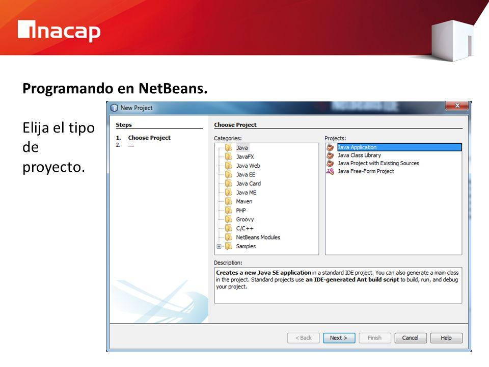 Programando en NetBeans.