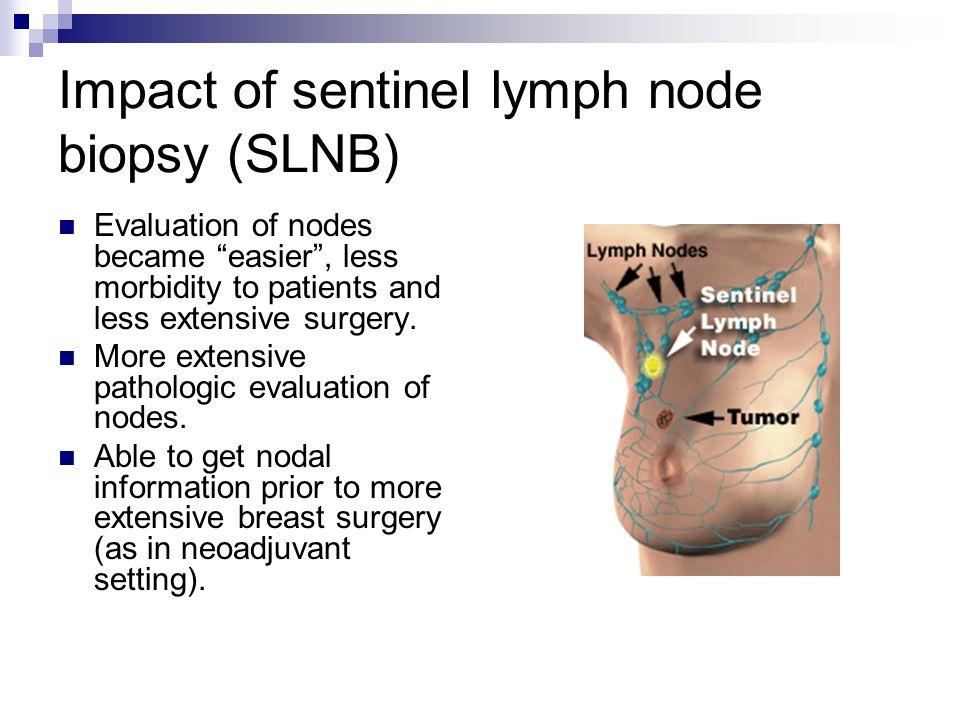 Impact of sentinel lymph node biopsy (SLNB)