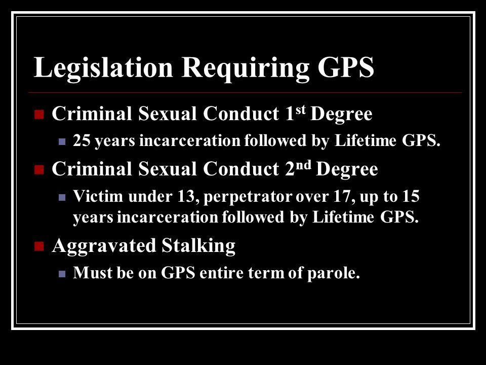 Legislation Requiring GPS