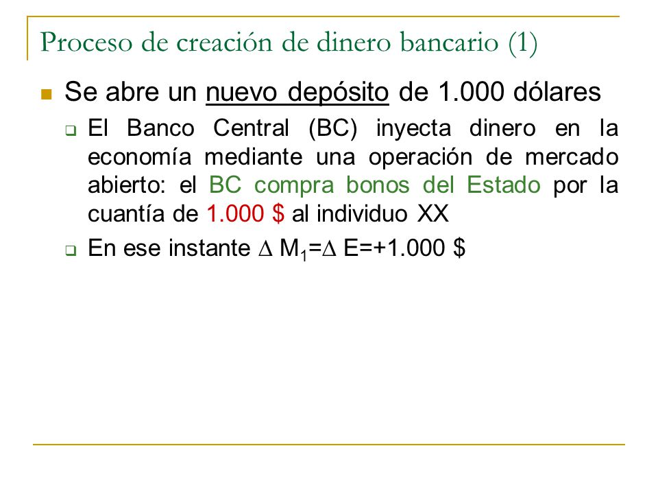 Proceso de creación de dinero bancario (1)