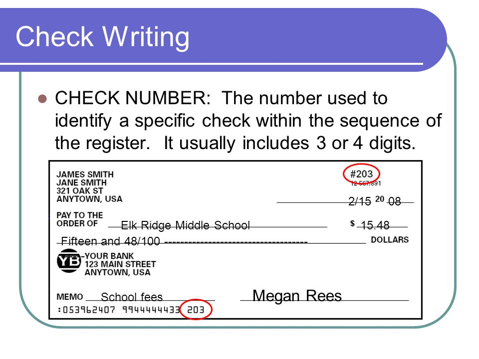 Check writing all about checks ppt download 11 check ccuart Gallery