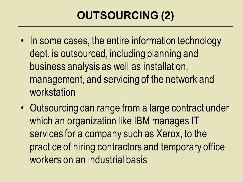 OUTSOURCING (2)