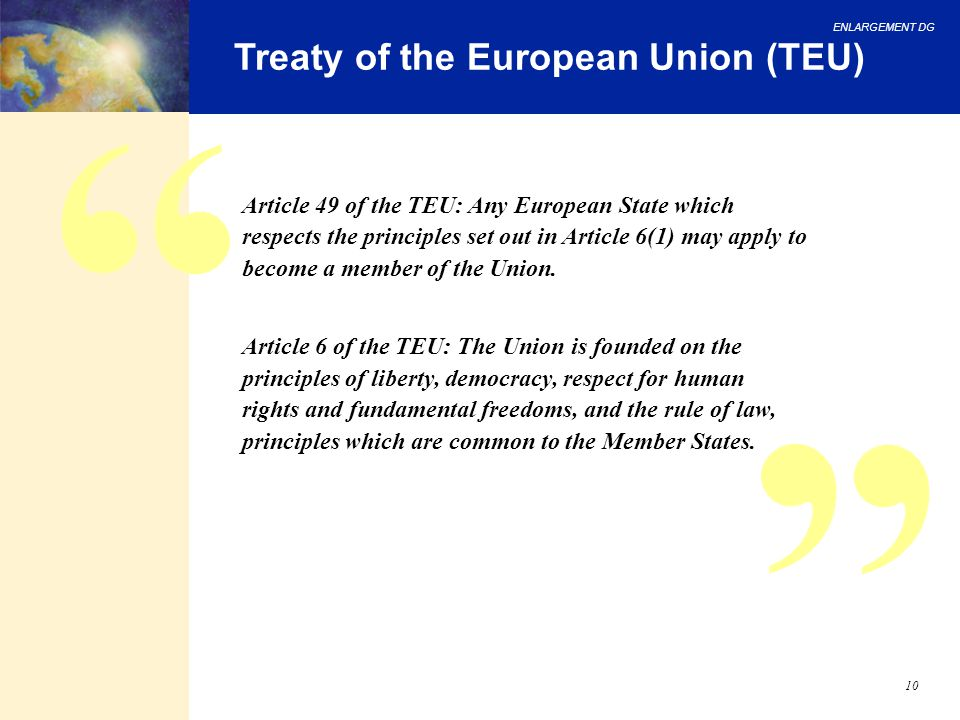 Treaty of the European Union (TEU)