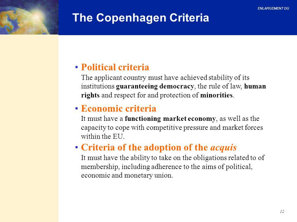 The Copenhagen Criteria