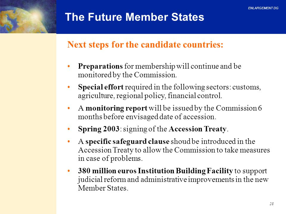 The Future Member States