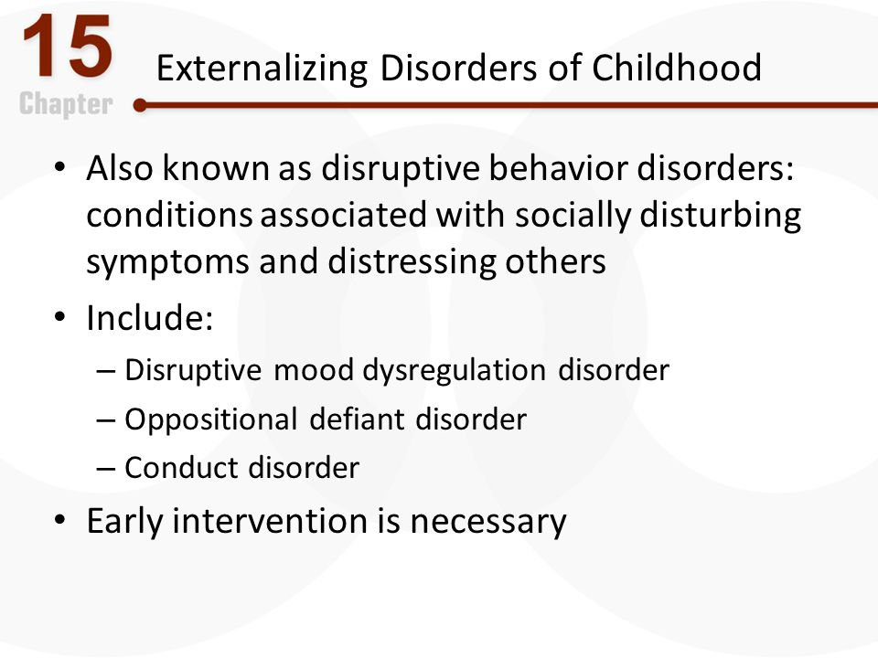 Externalizing Disorders of Childhood