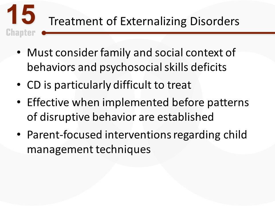 Treatment of Externalizing Disorders