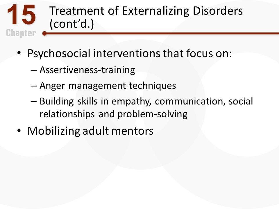 Treatment of Externalizing Disorders (cont'd.)