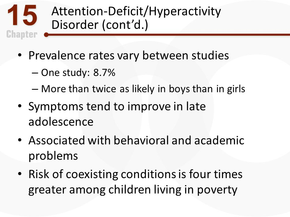 Attention-Deficit/Hyperactivity Disorder (cont'd.)