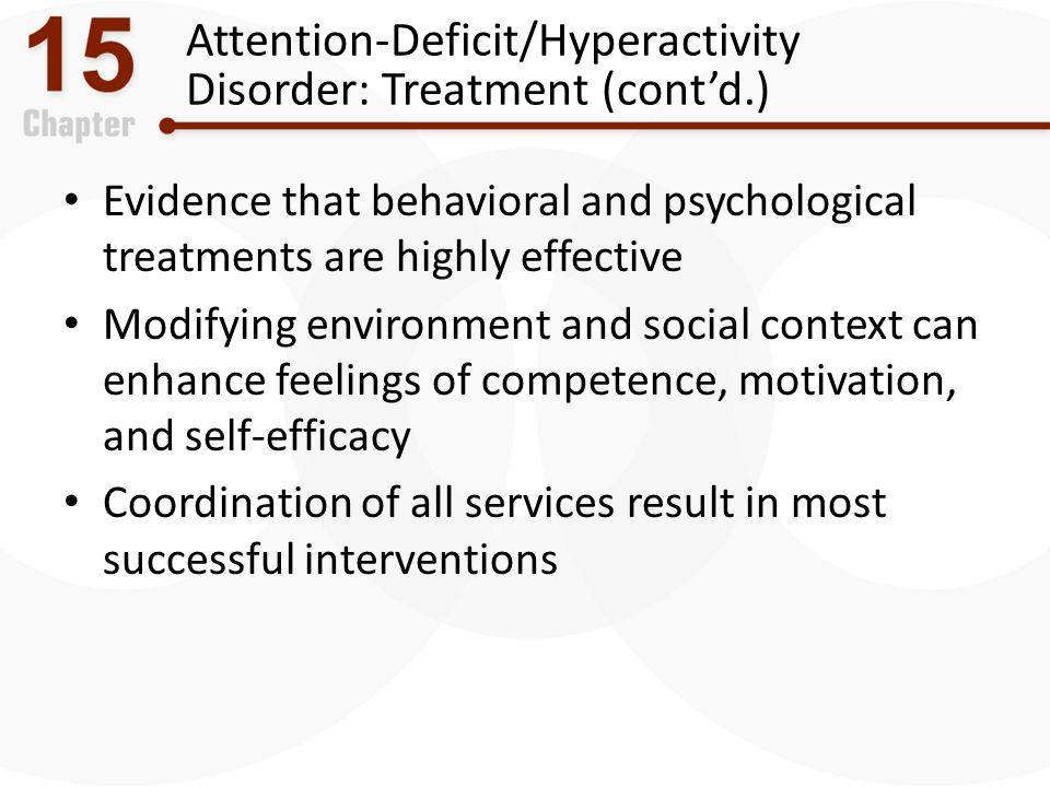 Attention-Deficit/Hyperactivity Disorder: Treatment (cont'd.)