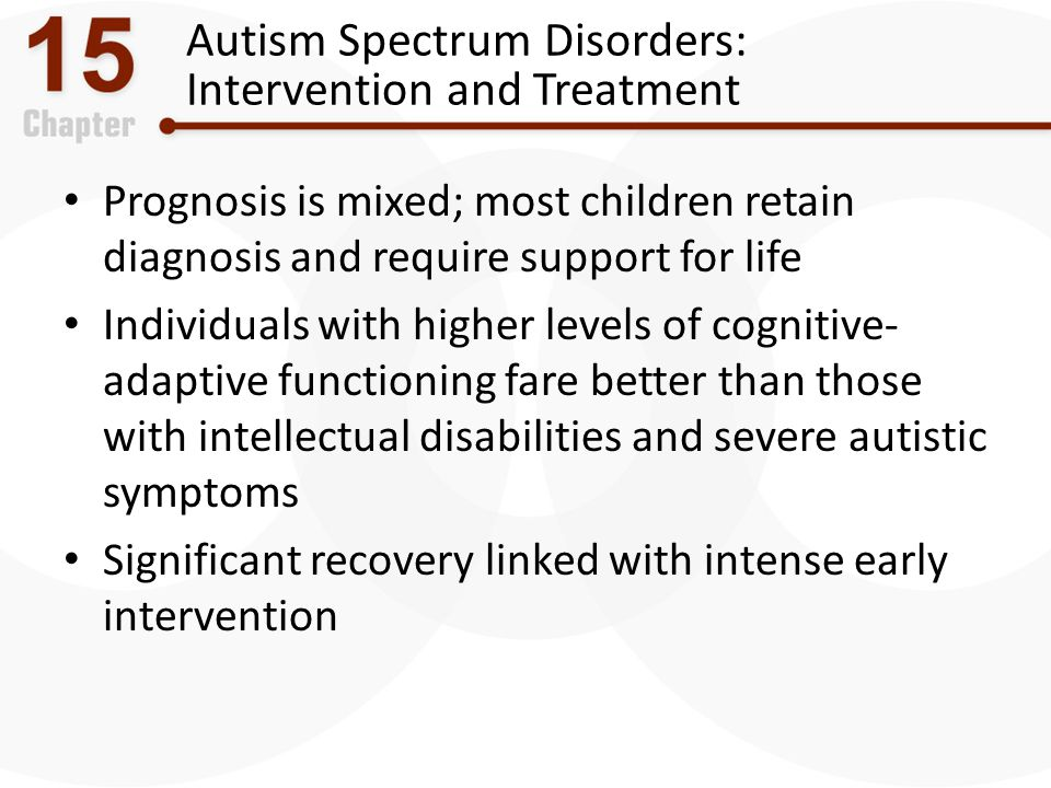 Autism Spectrum Disorders: Intervention and Treatment