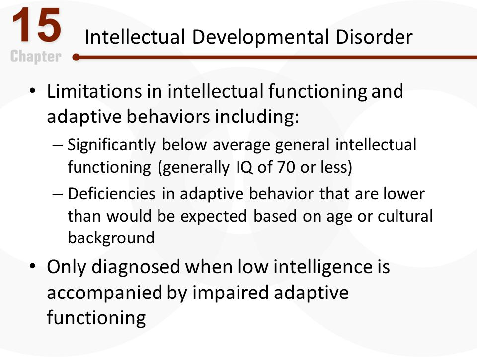Intellectual Developmental Disorder