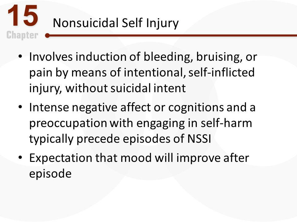 Nonsuicidal Self Injury