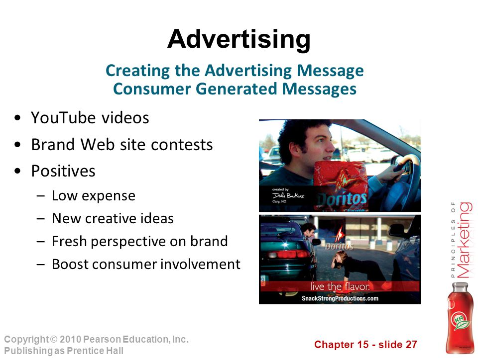 Creating the Advertising Message Consumer Generated Messages