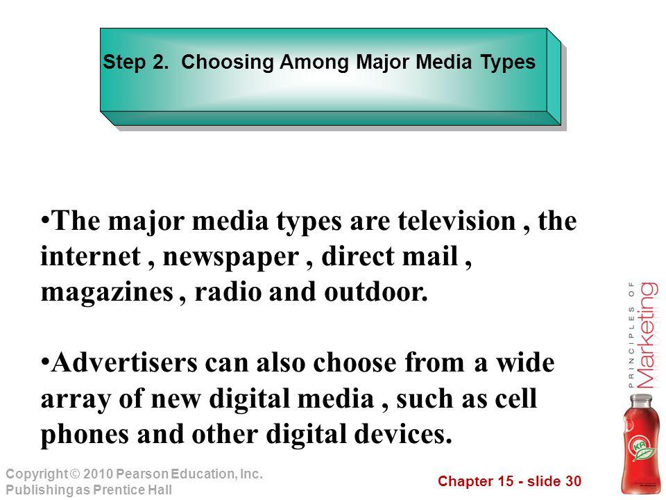 Step 2. Choosing Among Major Media Types