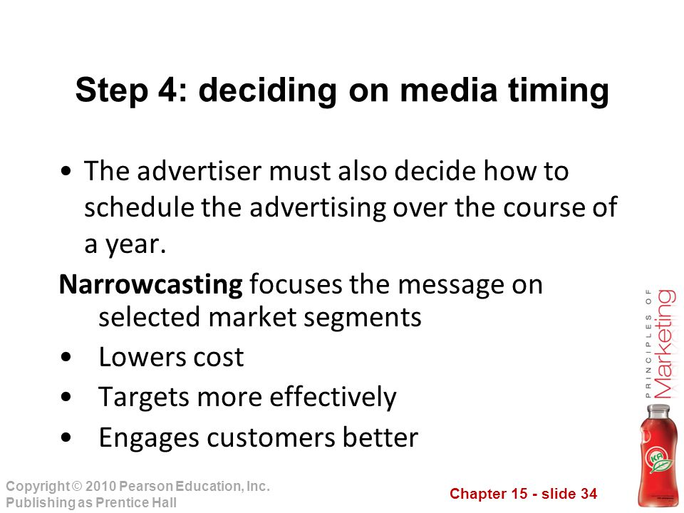 Step 4: deciding on media timing