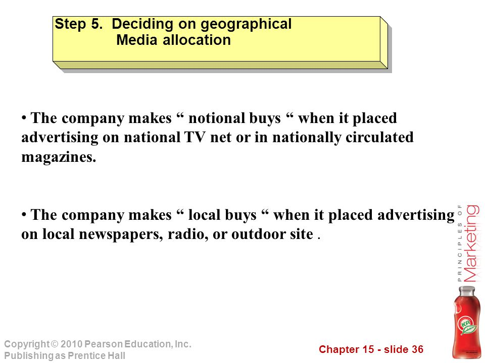 Step 5. Deciding on geographical