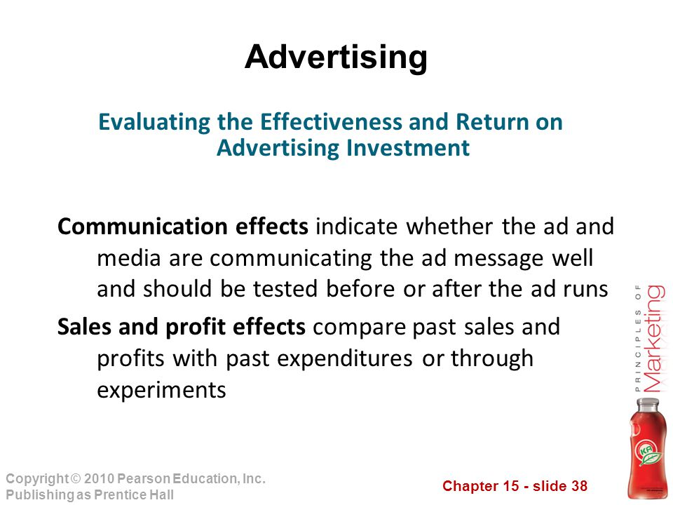 Evaluating the Effectiveness and Return on Advertising Investment