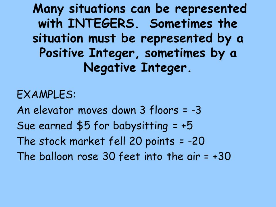 Representing Integers Ppt Video Online Download