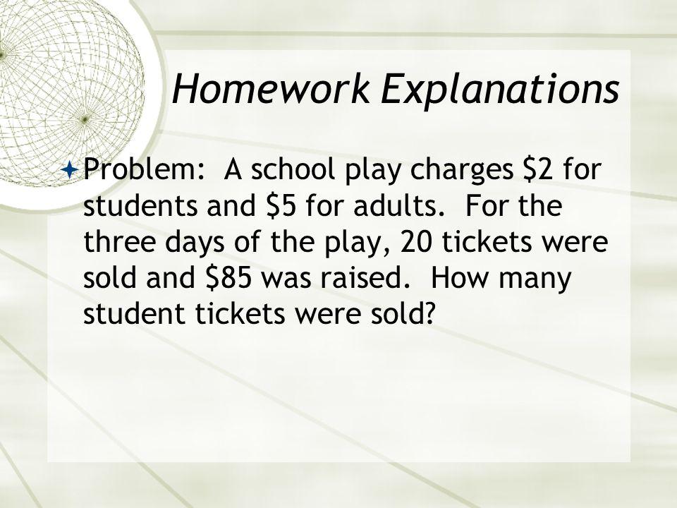 Homework Explanations