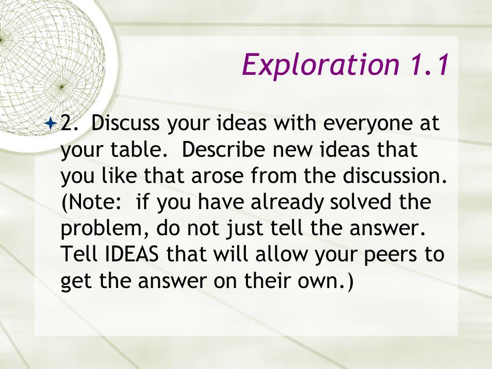 Exploration 1.1