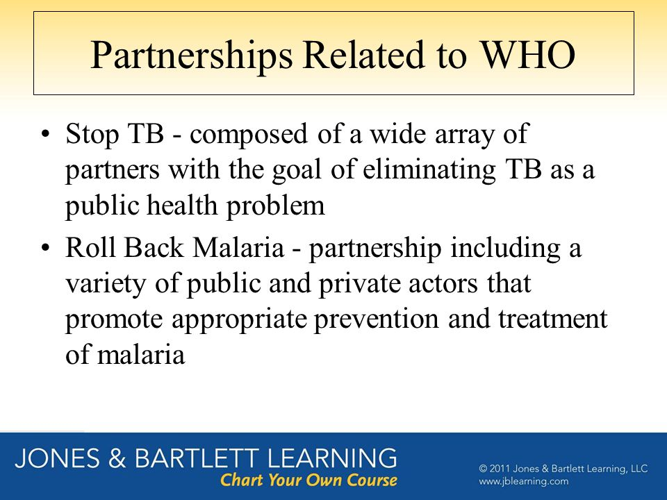 Partnerships Related to WHO