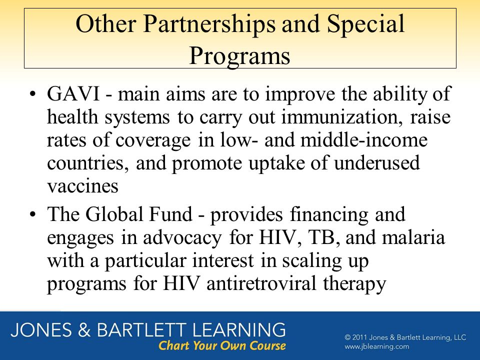 Other Partnerships and Special Programs
