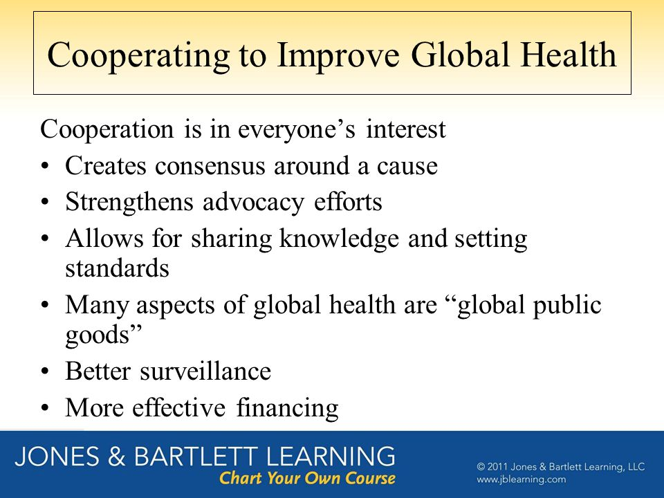 Cooperating to Improve Global Health