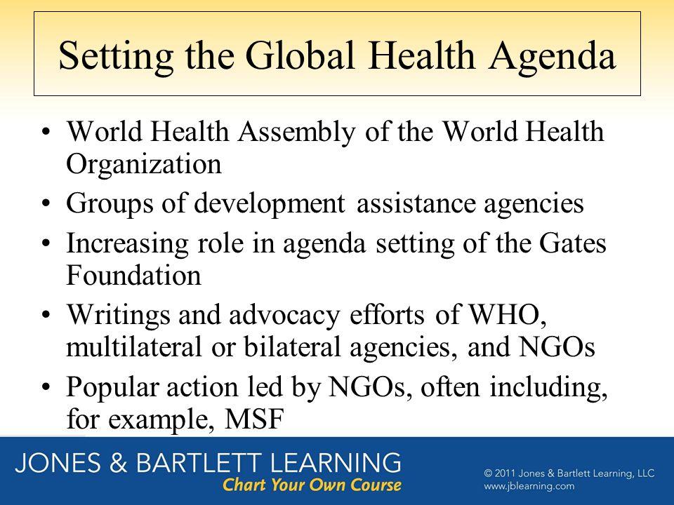 Setting the Global Health Agenda