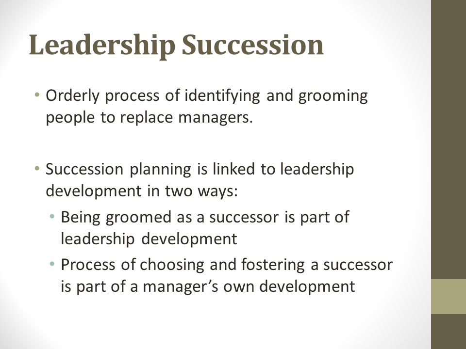 Leadership Succession