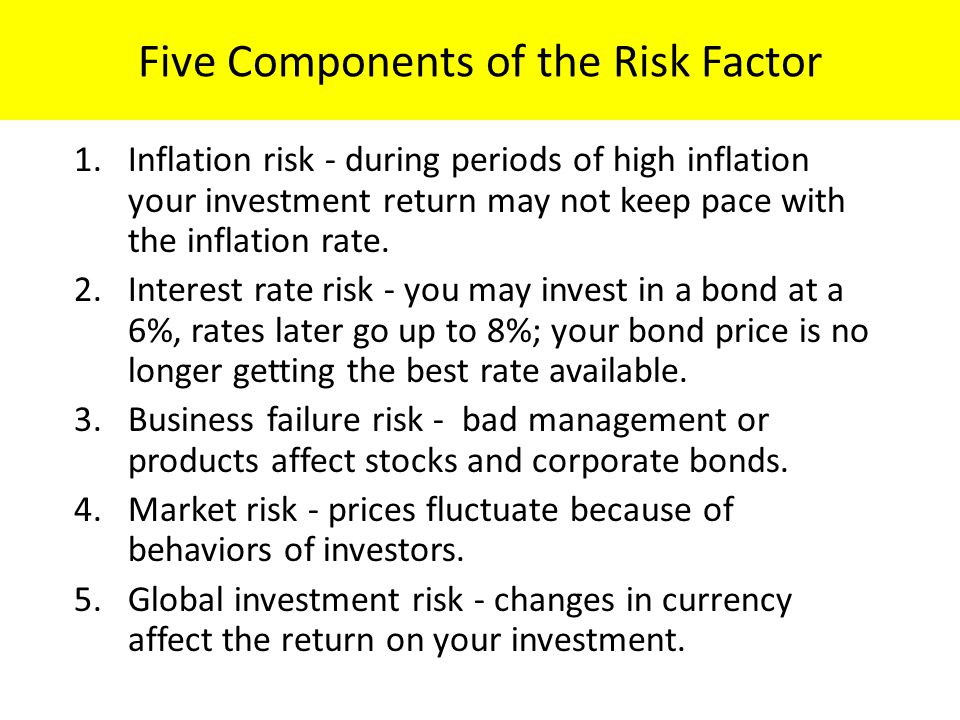 Five Components of the Risk Factor