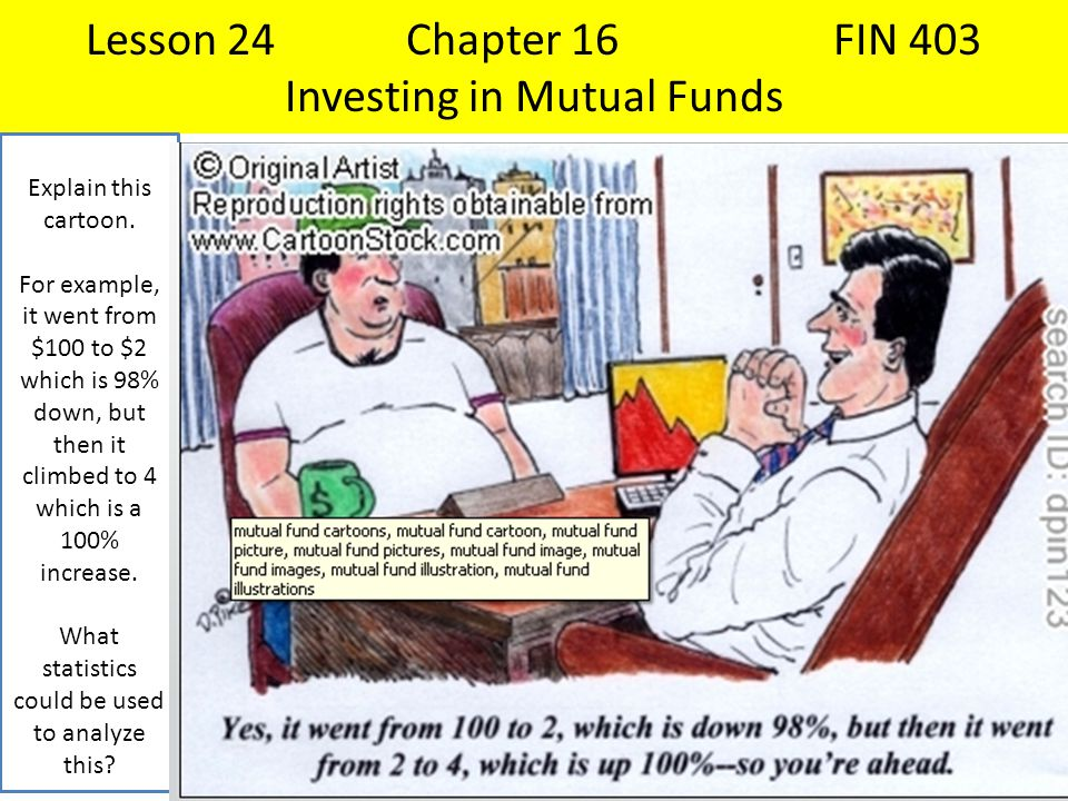 Lesson 24 Chapter 16 FIN 403 Investing in Mutual Funds