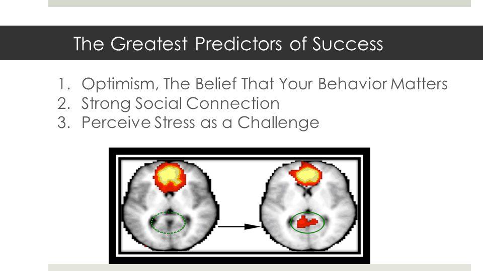 The Greatest Predictors of Success