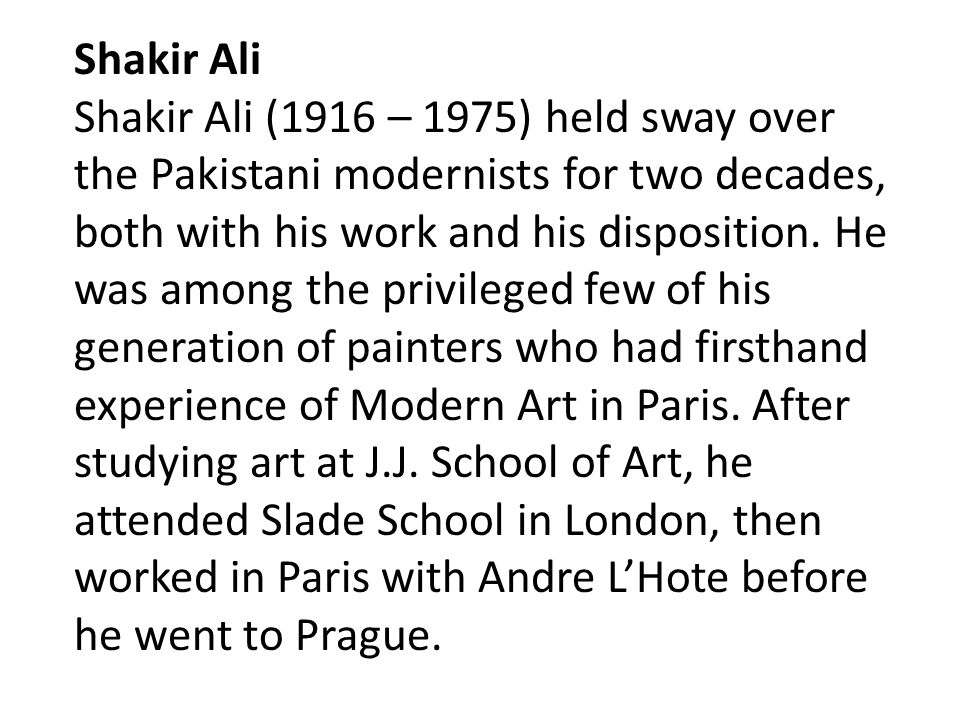 Shakir Ali