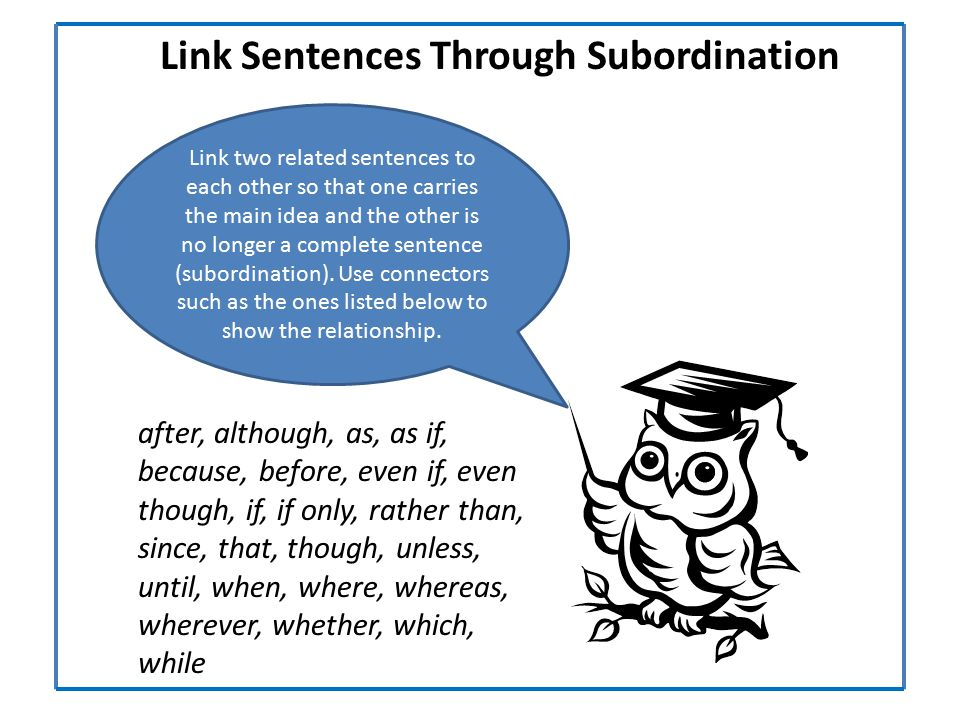 Link Sentences Through Subordination