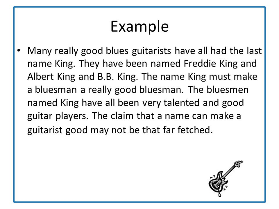 Many really good blues guitarists have all had the last name King