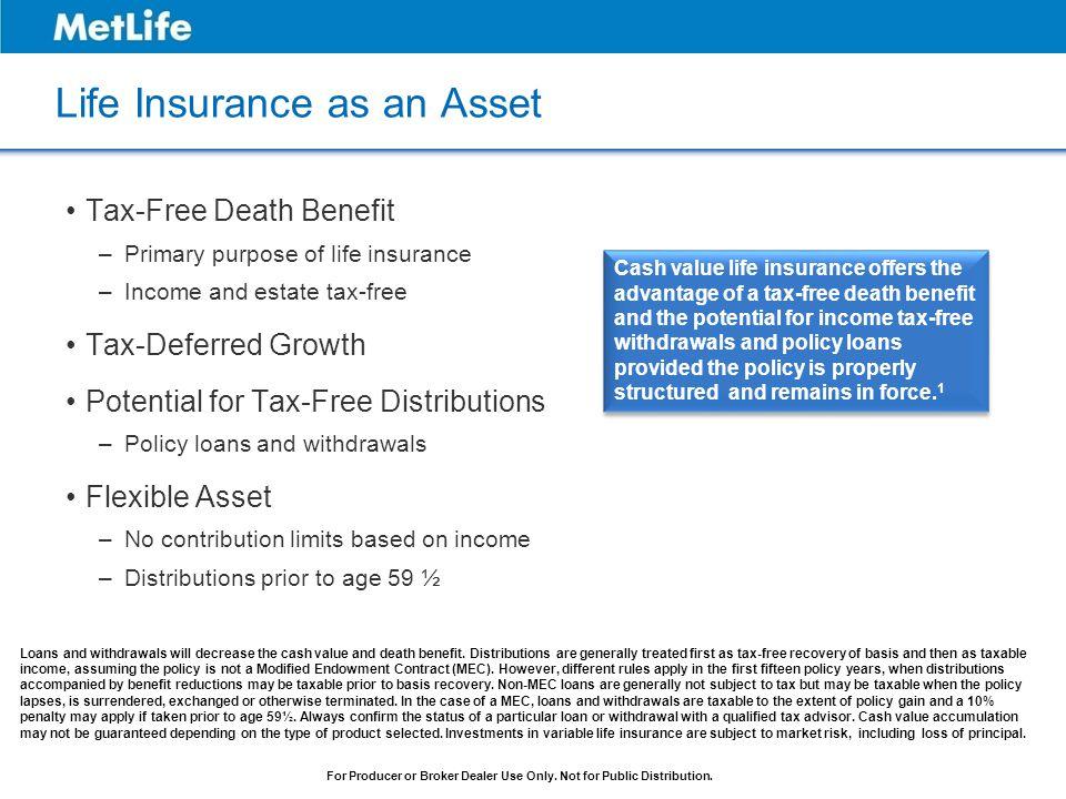 Life Insurance as an Asset