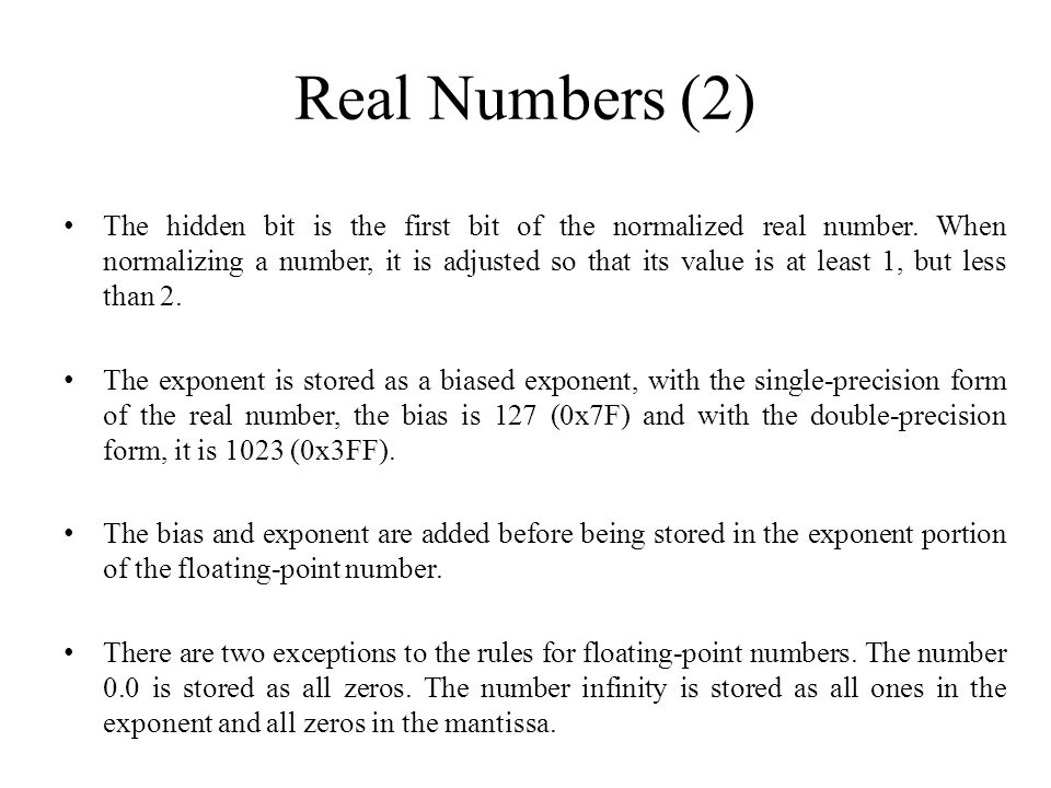 Real Numbers (2)
