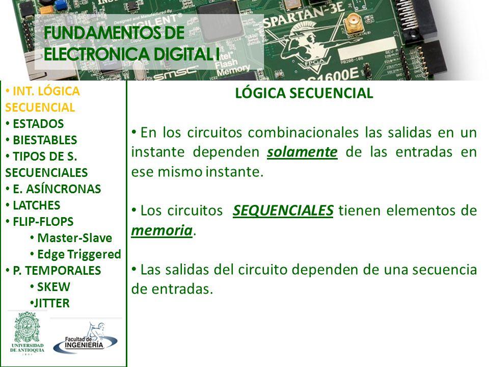 FUNDAMENTOS DE ELECTRONICA DIGITAL I