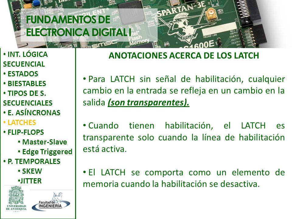 ANOTACIONES ACERCA DE LOS LATCH