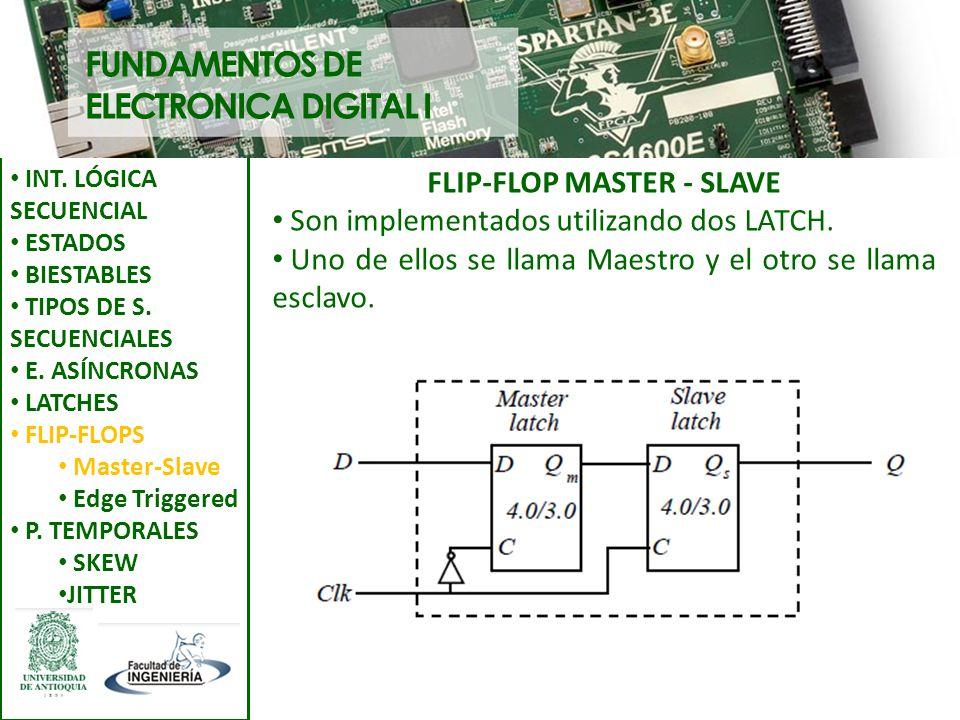 FLIP-FLOP MASTER - SLAVE