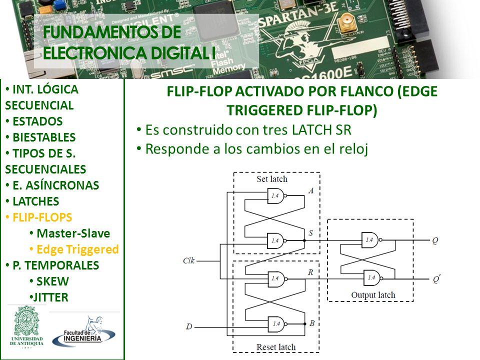 FLIP-FLOP ACTIVADO POR FLANCO (EDGE TRIGGERED FLIP-FLOP)