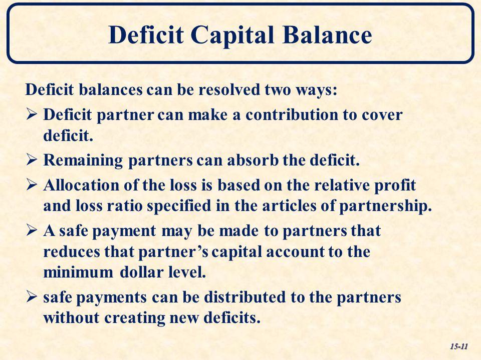 Deficit Capital Balance