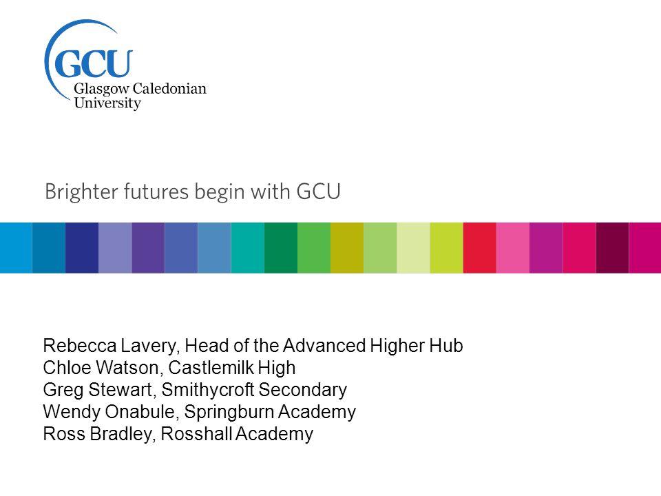 Rebecca Lavery, Head of the Advanced Higher Hub