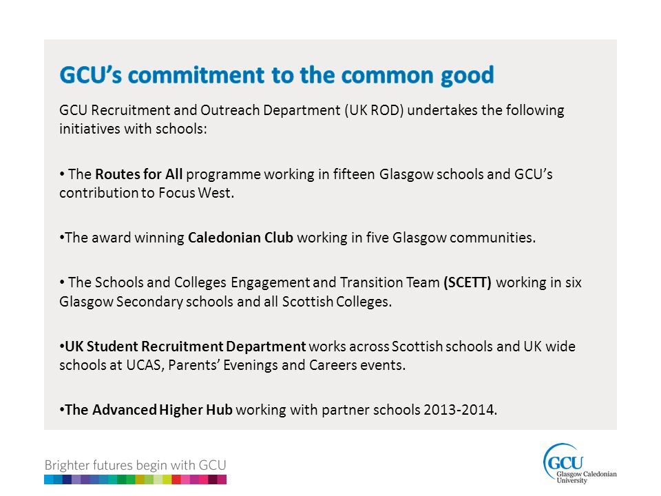GCU's commitment to the common good