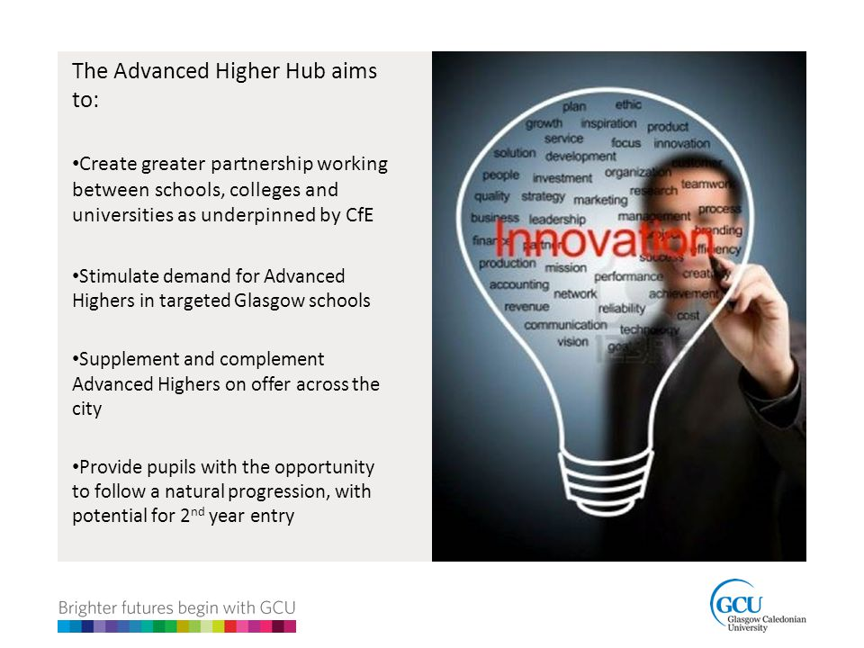The Advanced Higher Hub aims to: